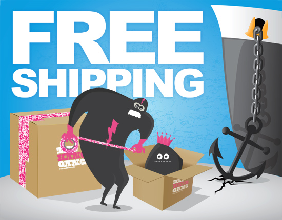 Free Shipping at the Hang Gang